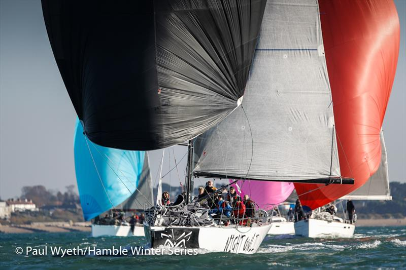 Night Owl in week 6 of HYS Hamble Winter Series - photo © Paul Wyeth / www.pwpictures.com