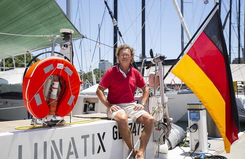Lunatix owner Friedrich Boehnert - Rolex Sydney Hobart Yacht Race © Hamish Hardy