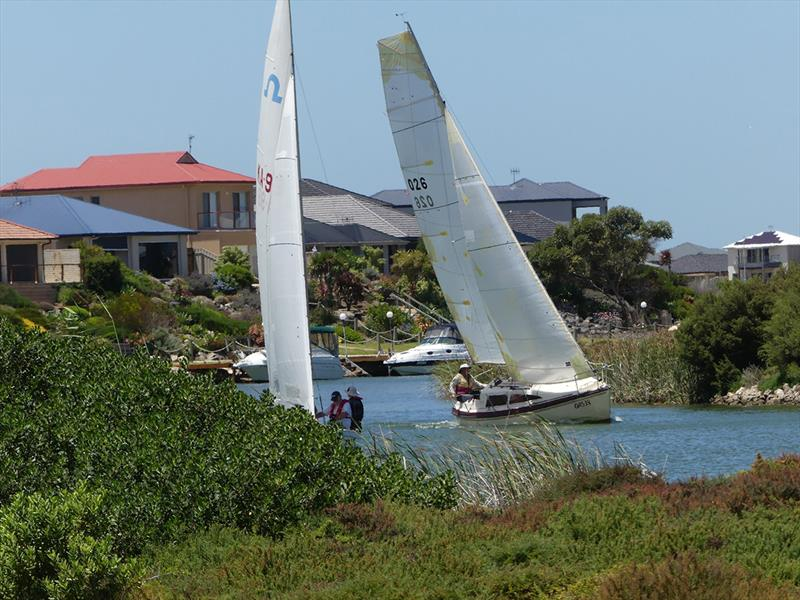 The race course is located in and amongst a number of houses providing great spectating - Goolwa Regatta Week 2019 - photo © Chris Caffin, Canvas Sails
