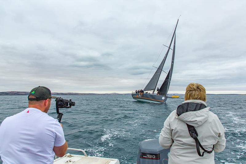 Shining Sea closing in on the finish line - 2019 Teakle Classic Lincoln Week Regatta photo copyright Take 2 Photography taken at Port Lincoln Yacht Club and featuring the IRC class