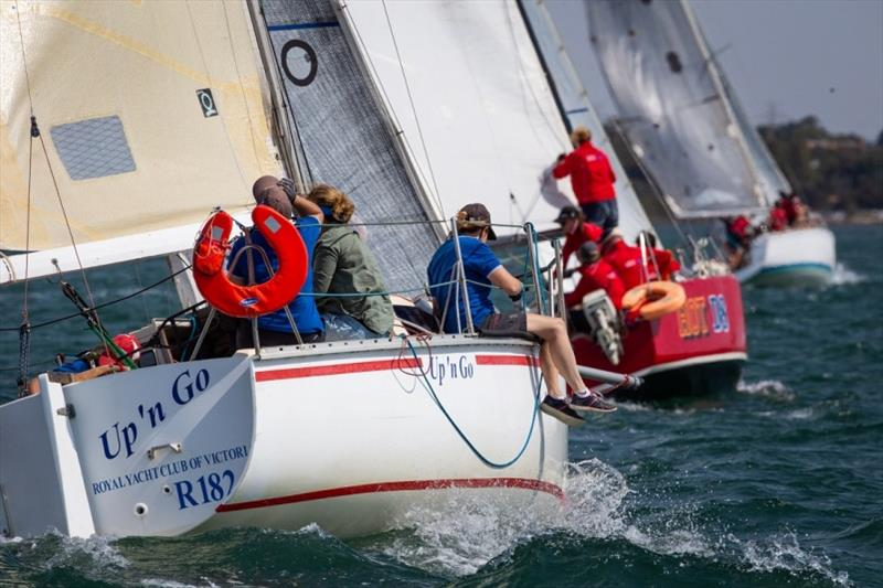 The chasing pack - Port Phillip Women's Championship Series 2019 photo copyright Bruno Cocozza taken at Royal Yacht Club of Victoria and featuring the IRC class