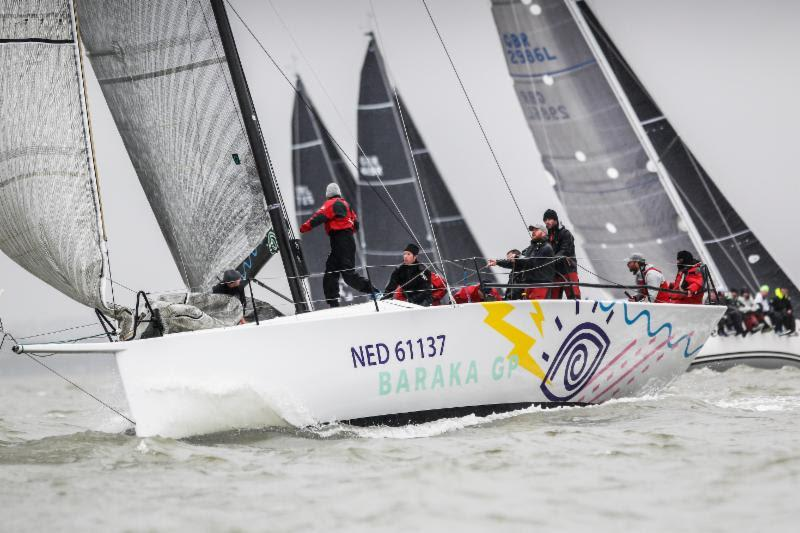 International teams such as the de Graaf family sailing Ker 43 Baraka GP from Netherlands are attracted by the free coaching at the RORC Easter Challenge to prepare them for the season - photo © Paul Wyeth