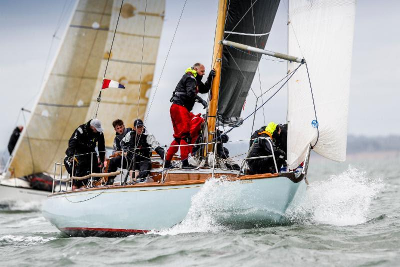 Whatever your experience, everyone benefits from the free expert coaching advice, on and off the water.  Giovanni Belgrano's classic 1939 Laurent Giles sloop Whooper - RORC Easter Challenge - photo © Paul Wyeth