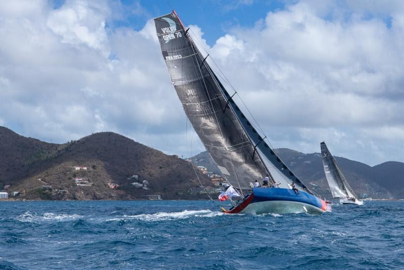E1 at the start of the Round Tortola Race  - photo © Alastair Abrehart