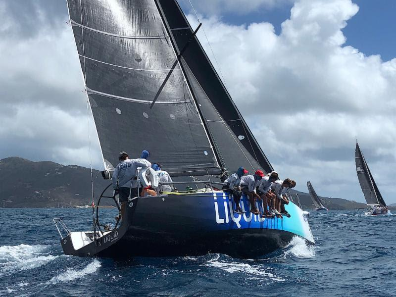 Pamala Baldwin's Antiguan J 122 Liquid win the Racing class in the Round Tortola Race - photo © Alastair Abrehart