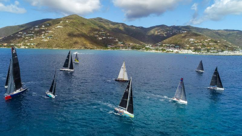Racing class set off for Scrub Island - BVI Spring Regatta & Sailing Festival 2019 - photo © Alastair Abrehart