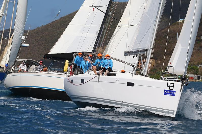 Winning the Hanse class today - Benoit De Grace from Quebec, Canada on his Hanse 415 We'll Sea - BVI Spring Regatta & Sailing Festival 2019 - photo © Ingrid Abery / www.ingridabery.com