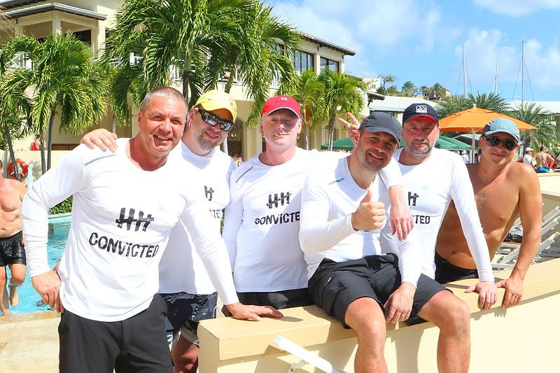TP52 Team Conviction enjoy Scrub Island hospitality after the day's racing - BVI Spring Regatta & Sailing Festival 2019 - photo © Ingrid Abery / www.ingridabery.com