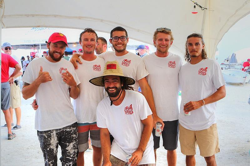 High School friends on the J/100 Bad Girl after winning their class on Mount Gay Rum Race Day - BVI Spring Regatta 2019 photo copyright Ingrid Abery / www.ingridabery.com taken at Royal BVI Yacht Club and featuring the IRC class