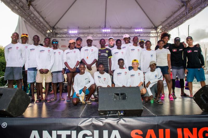The Antigua Sailing Week Y2K (Youth to Keelboat program) pairs youth with sailing aptitude, aged 13-25 with professional crews entered in Antigua Sailing Week. Around 40 are taking part this year. photo copyright Ted Martin taken at Antigua Yacht Club and featuring the IRC class