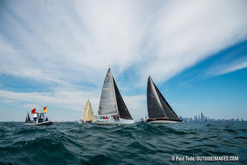 The start of the North Sails Rally Race commenced two miles off Chicago's iconic cityfront - Helly Hansen NOOD Regatta - photo © Paul Todd / Outside Images