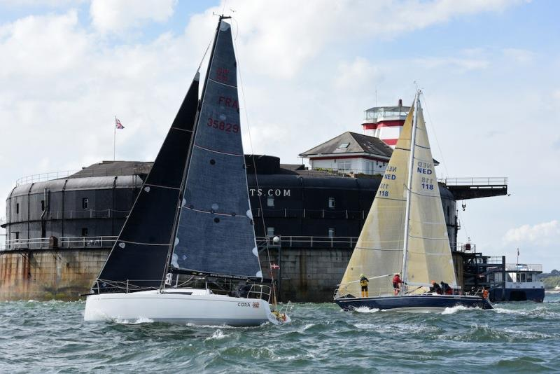 Sun Fast 3200 Cora, sailed Two-Handed by Tim & Nigel Goodhew. - photo © Rick Tomlinson