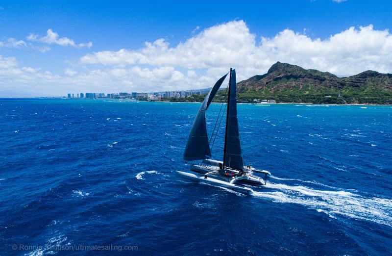 Paradox on final approach to Diamond Head - Transpac 50 - photo © Ronnie Simmons / Ultimate Sailing