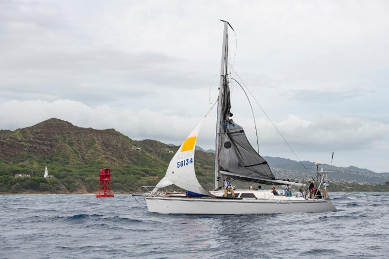 One puff too tough: Uhambo finishes under jury rig - Transpac 50 - photo © Walt Cooper / Ultimate Sailing