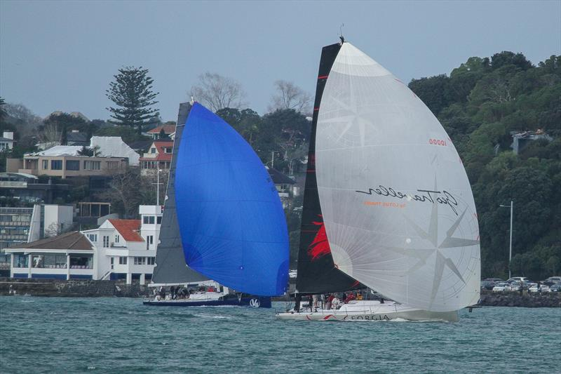 V5 and Georgia Racing - RNZYS Winter Race - July 27,  2019 photo copyright Richard Gladwell taken at Royal New Zealand Yacht Squadron and featuring the IRC class