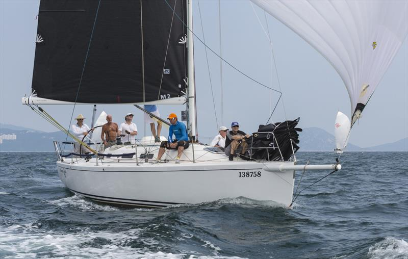 Whiskey Jack cruising to a win in this year's China Coast Regatta 2019 photo copyright Guy Nowell / RHKYC taken at  and featuring the IRC class