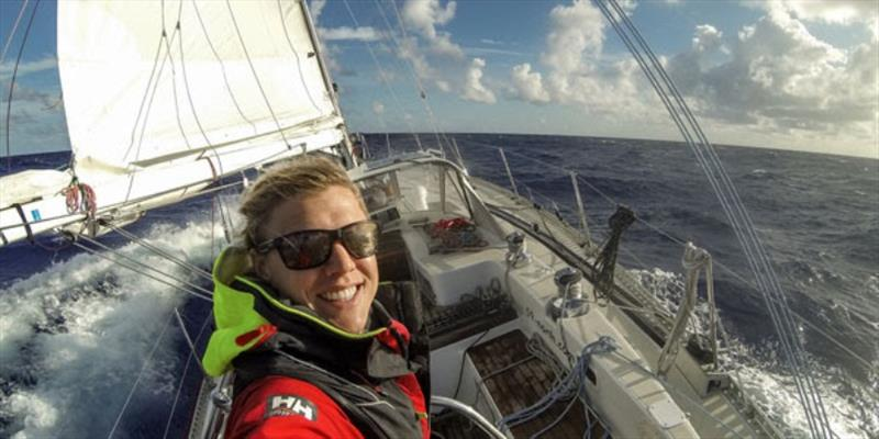 Mia Karlsson is Andy's wife and business partner of 59 North and Chief mate during the OGR! photo copyright Ocean Globe Race taken at  and featuring the IRC class