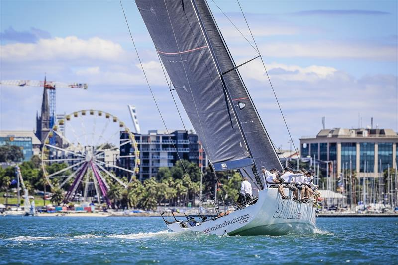 Festival of Sails - Secret Mens Business and Geelong backdrop - photo © Salty Dingo