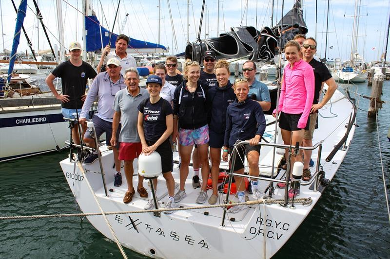 Team Trek-SegaFredo competed in the MacGlide Festival of Sails and Cadel Evans Great Ocean Road Sailing Challenge. They joined Royal Geelong Yacht Club skipper Paul Buchholz for a sail last night on Extasea. - photo © Sarah Pettiford