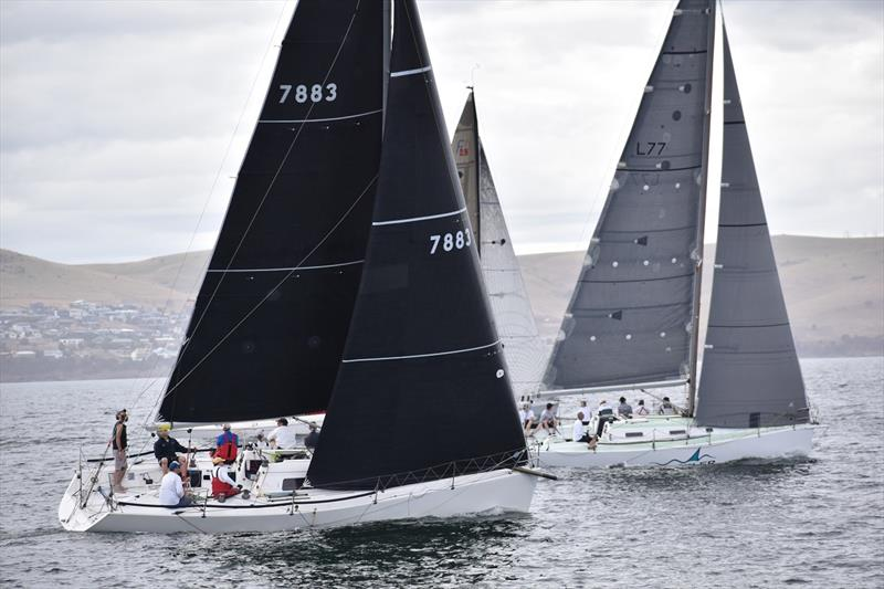 Gavin Adamson (Madness) sailing in the Combined Clubs Summer Pennant Series in Hobart photo copyright Jane Austin taken at Bellerive Yacht Club and featuring the IRC class