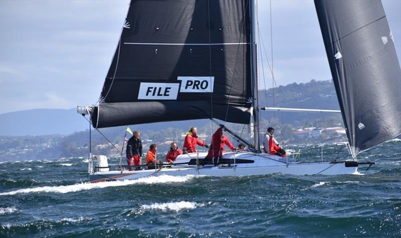 FilePro handled the difficult conditions on the River Derwent to win Racing Division 1 on Performance Handicap - Banjo's Shoreline Crown Series Bellerive Regatta 2020 photo copyright Jane Austin taken at Bellerive Yacht Club and featuring the IRC class