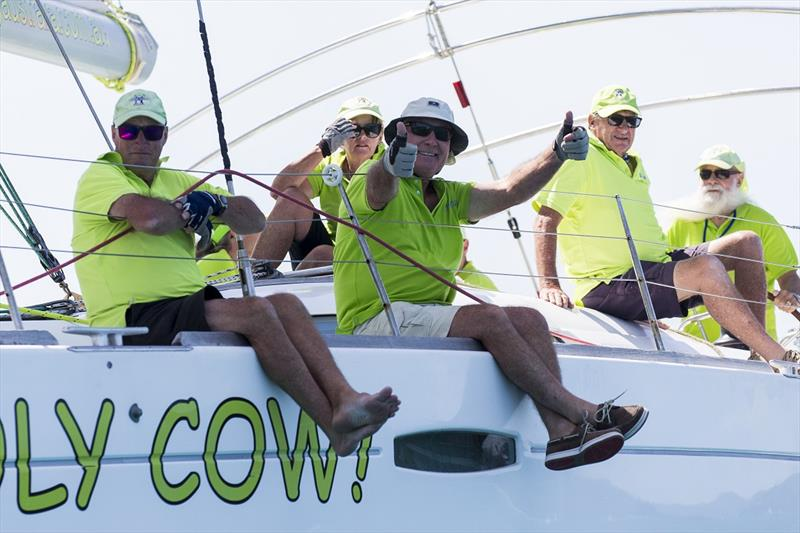 Holy Cow! We can finally race again - Airlie Beach Race Week 2019 photo copyright Andrea Francolini taken at Whitsunday Sailing Club and featuring the IRC class
