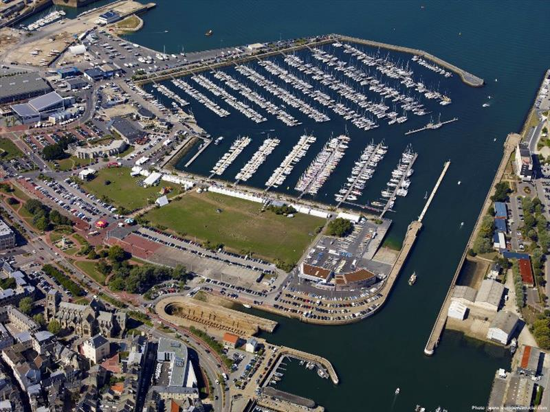 Aerial view of the host port - Cherbourg, France where the massive fleet will be berthed and sailors from around the world will enjoy the festivities and fantastic atmosphere on arrival - photo © www.leuropevueduciel