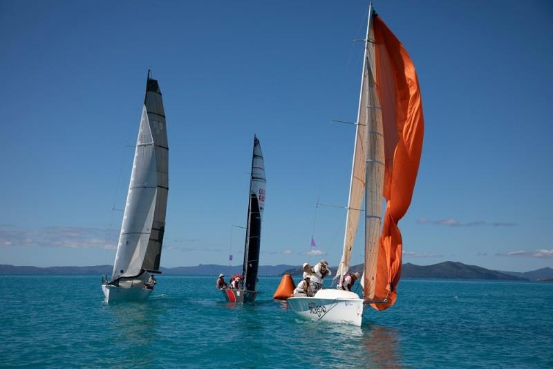 Top Gear, The Stig and Mister Magoo struggling in little breeze - 2020 Airlie Beach Race Week, final day - photo © Shirley Wodson / ABRW