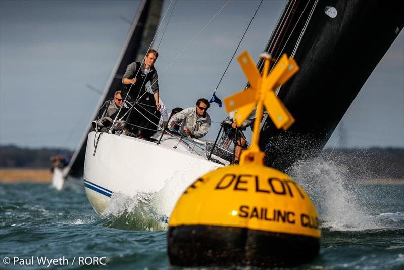 Michael O'Donnell's J/121 Darkwood currently leading IRC Two on countback (subject to a protest) - RORC IRC National Championships - photo © Paul Wyeth / pwpictures.com