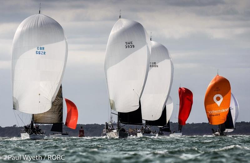 The IRC Two fleet heads downwind - RORC IRC National Championships - photo © Paul Wyeth / pwpictures.com