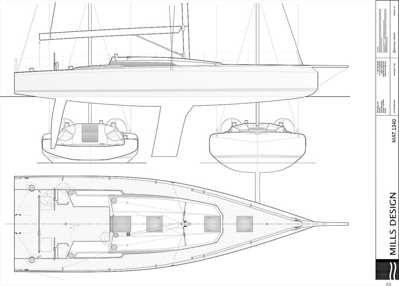 Deck Plan for the M.A.T. 1340 - photo © M.A.T Yachts
