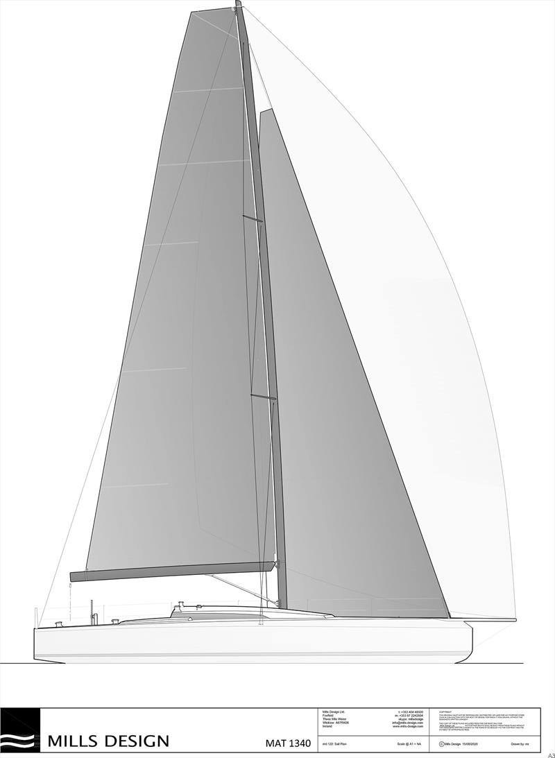 Sail Plan of the new M.A.T. 1340 - photo © M.A.T Yachts