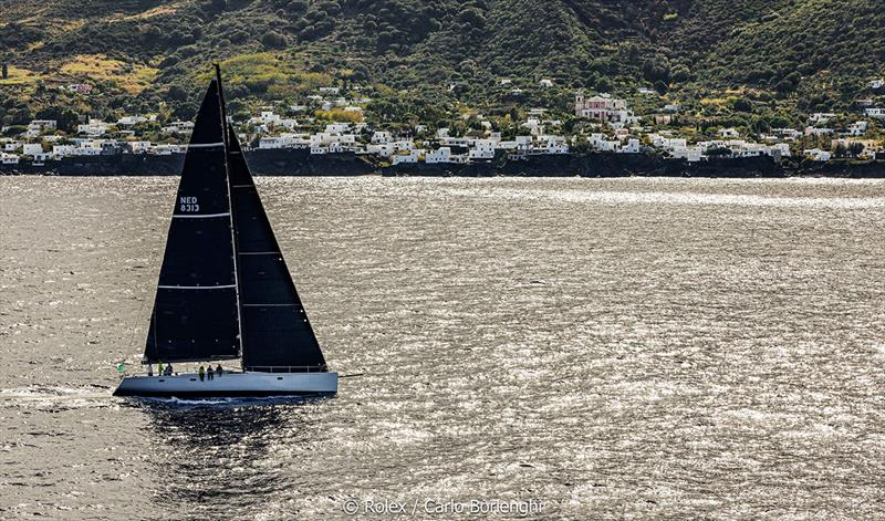 Rolex Middle Sea Race  -  Aragon; Sail n°: NED 8313; Model: Marten 72; Entrant: Andries Verder / Arco Van Nieuwland; Country: NED; Skipper: Wouter Roos; Loa: 22; IRC: Class 1; ORC: Class 1; MH:passage Aeolian Island photo copyright Rolex / Carlo Borlenghi taken at Royal Malta Yacht Club and featuring the IRC class