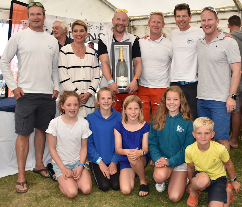 2019 Taittinger Royal Solent Yacht Club Regatta overall winners, the J109 team on Space 8 photo copyright Marion Heming taken at Royal Solent Yacht Club and featuring the J109 class