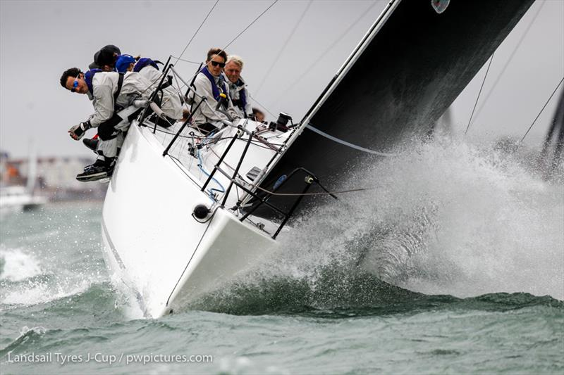 McFly, GBR 111N, J111 on day 1 of the 2020 Landsail Tyres J-Cup - photo © Paul Wyeth / www.pwpictures.com