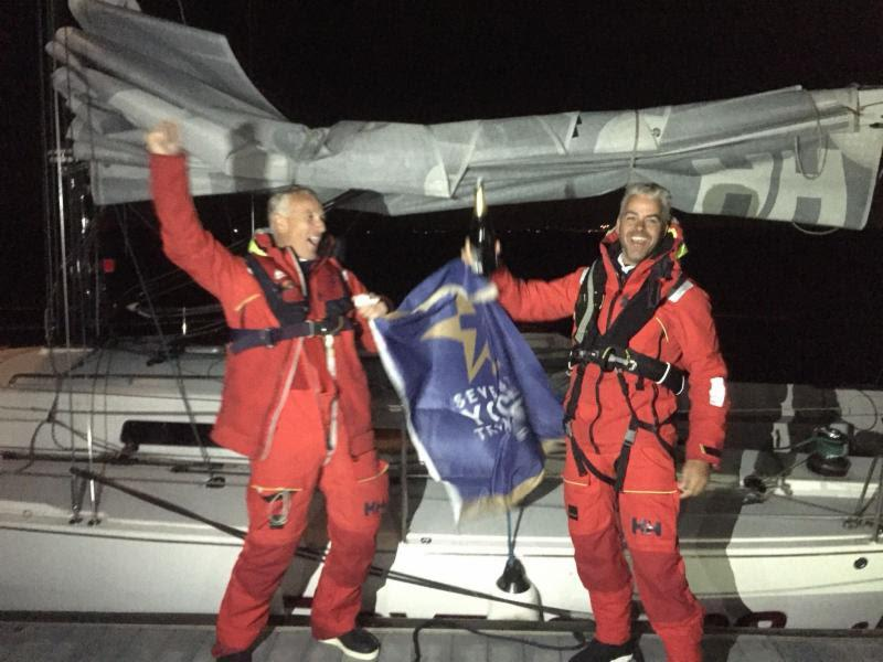 Chris Revelman and Pascal Bakker's Dutch J/122 Junique Raymarine Sailing Team finished the race on Thursday 23rd August close to midnight Gefeliciteerd! - photo © RORC