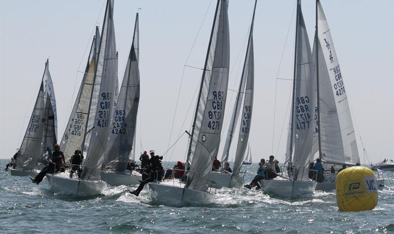 J/24 course on day 2 of the International Paint Poole Regatta - photo © Mark Jardine