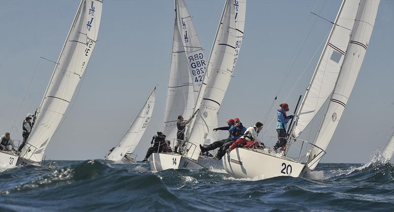 J/24 Europeans at Plymouth day 1 - photo © Robin Price / <a target=