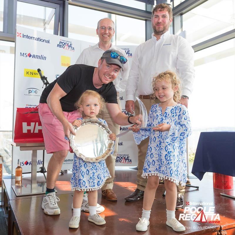 Nick Phillips' Chaotic team win the J/24 Nationals at the International Paint Poole Regatta 2018 - photo © Ian Roman / International Paint Poole Regatta