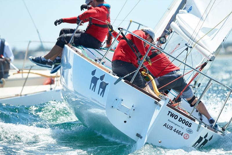 Jack Fullerton's immaculate Two Dogs - 2018 Monjon J24 Nationals – Day 3 - photo © Luis Ferreiro