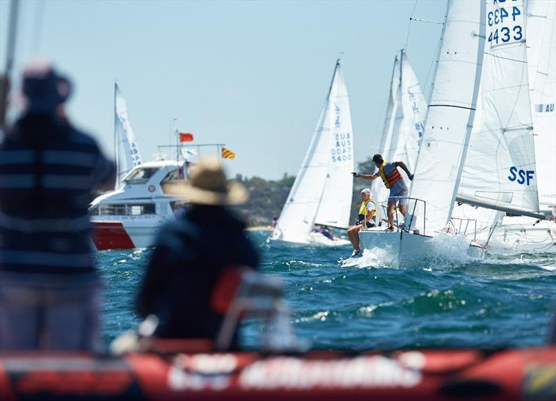 Start line action – great shot - 2018 Monjon J24 Nationals – Day 3 - photo © Luis Ferreiro