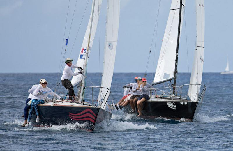Good winds and flat sea make for ideal racing conditions during Barbados Sailing Week - photo © Peter Marshall