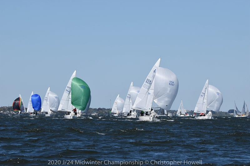 Day 2 - 2020 J/24 Midwinter Championship - photo © Christopher Howell