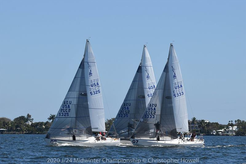 Final Day - 2020 J/24 Midwinter Championship photo copyright Christopher Howell taken at Eau Gallie Yacht Club and featuring the J/24 class