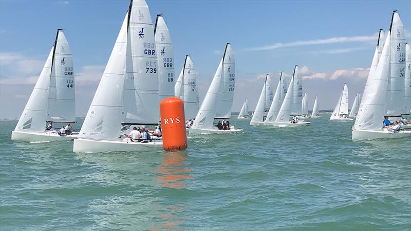 J/70 UK Nationals in Cowes day 3 - photo © Louay Habib / Key Yachting