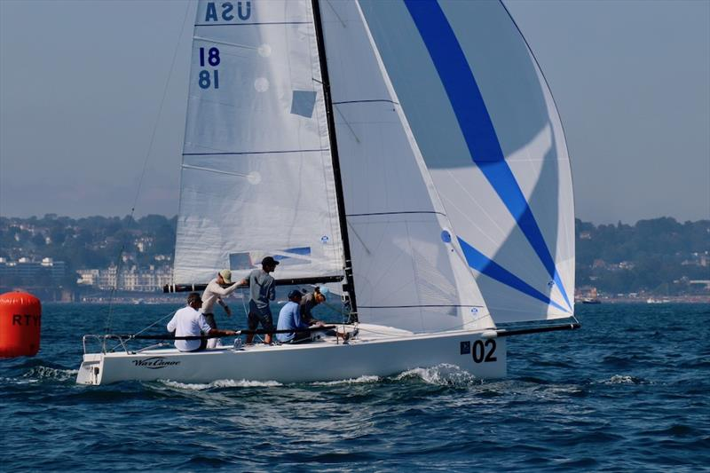 Michael Goldfarb's Warcanoe (USA) on day 2 of the J/70 UK Class National Championships - photo © Louay Habib