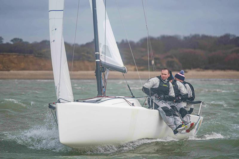 J70 Just4Play in the Combined Sportsboat class on day 1 of the Warsash Spring Series - photo © Andrew Adams