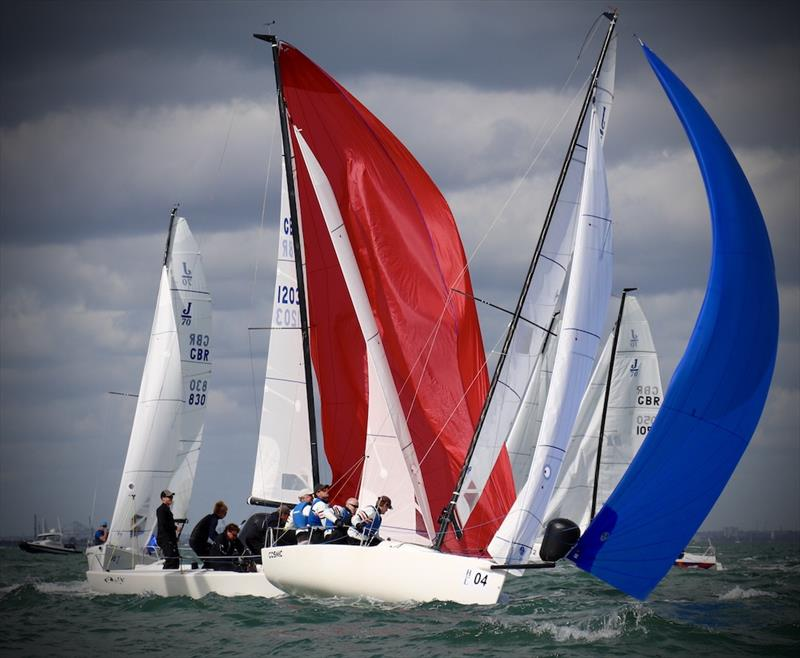 Bow 04 Patrick Liardet's J/70 Cosmic on day 2 of the 2020 J/70 UK National Championship - photo © Louay Habib