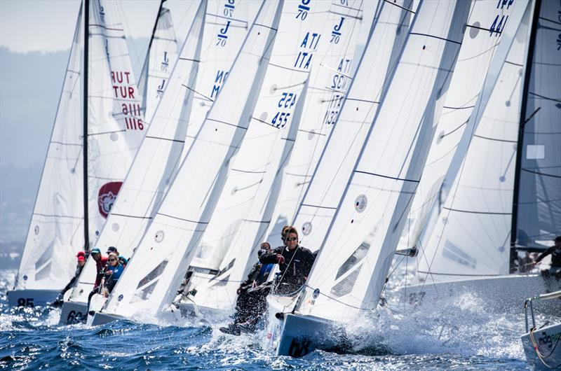 Day 3 of the Europeans in Vigo with a fleet of 69 - photo © 2018 J/70 European Championships / www.sailingshots.es