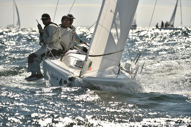The `Black Flag` moment Relative Obscurity - 2018 West Marine J/70 World Championships - Day 3 - photo © 2018 West Marine J/70 Worlds / PhotoBoat.com